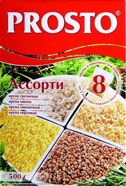 Крупа PROSTO Ассорти (греч.,пшено,пшенич.,перл.) 8*62,5г