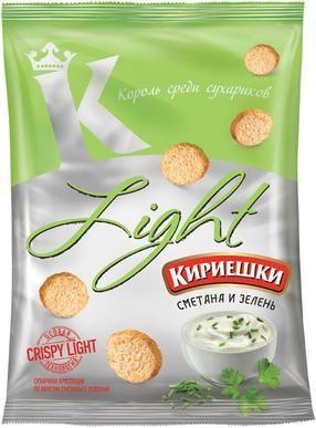 Сухарики Кириешки 80г Light сметана с зеленью