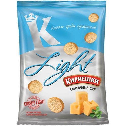 Сухарики Кириешки 80г Light сливочный сыр
