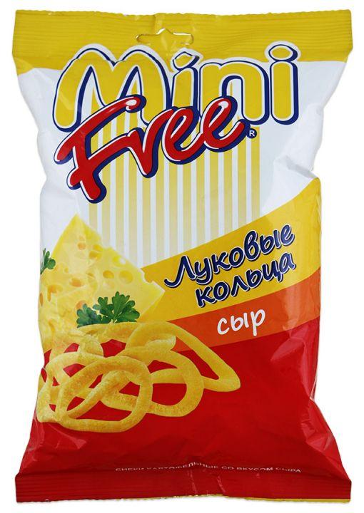 Чипсы MiniFree луковые кольца сыр 45г