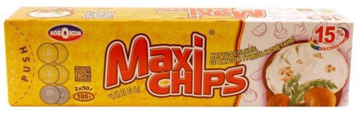 Чипсы Макси грибы-сметана 50г