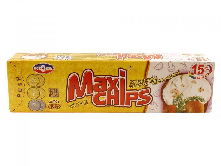 Чипсы Макси грибы-сметана 100г
