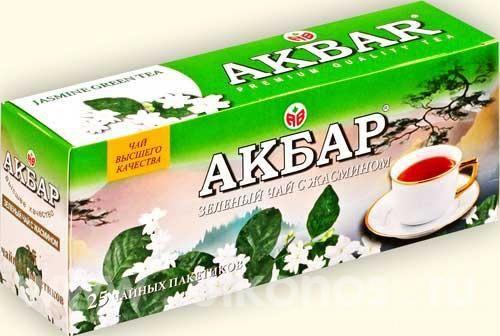 Чай Акбар зеленый с жасмином с/я 25пак*1г