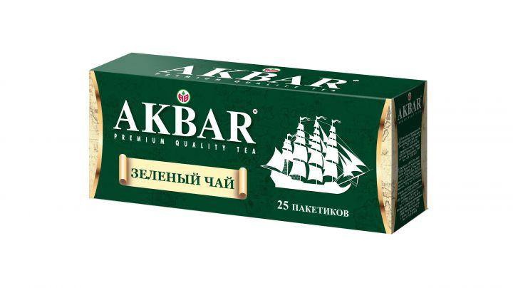 Чай Акбар зеленый с/я 25пак*2г