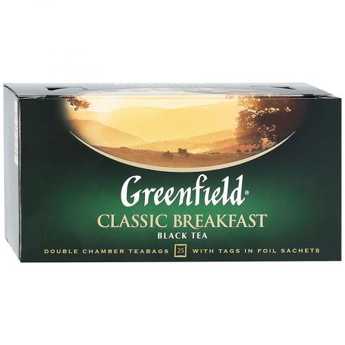 Чай Гринфилд Классик Брекфаст 25пак*2г