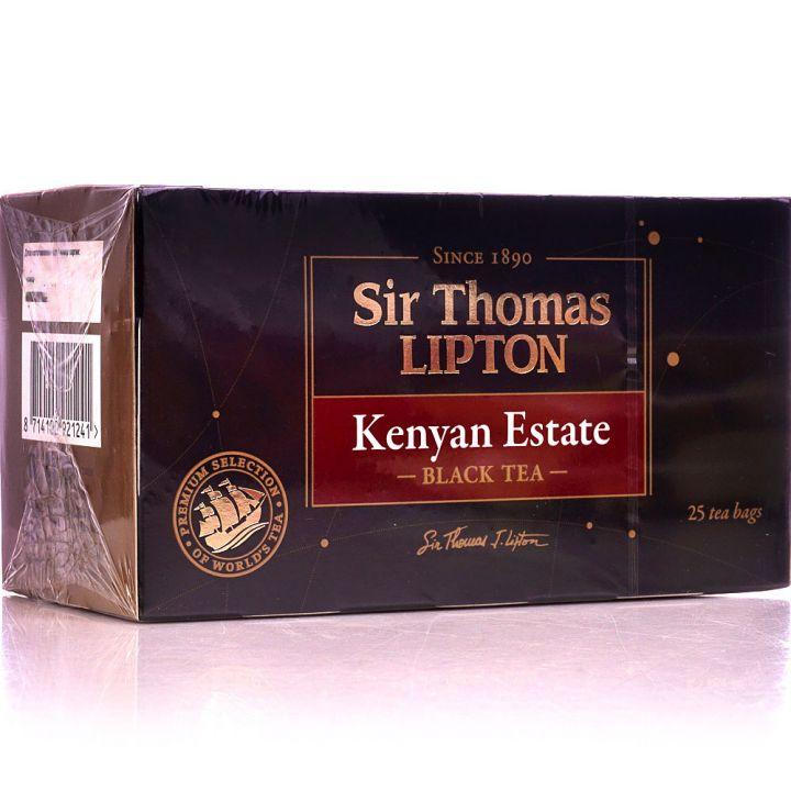 Чай Липтон черный Сэр Томас Kenyan Estate (пирамидки) 25пак.*2г