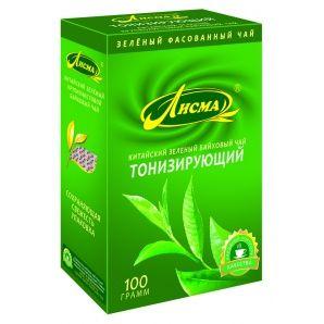 Чай Лисма тонизирующий зеленый крупный лист 100г