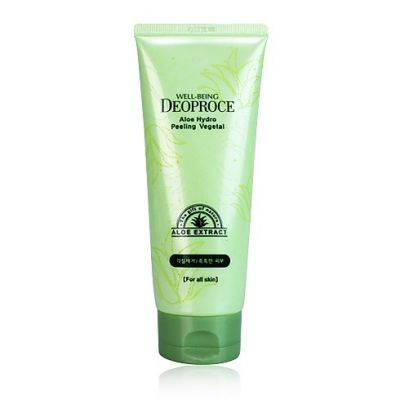 Пилинг-гель для лица с экстрактом алое Well-BEING DEOPROCE ALOE HYDRO PEELING VEGETAL 170g 170гр