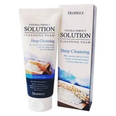 Пенка для умывания рисовая вода NATURAL PERFECT SOLUTION CLEANSING FOAM DEEP CLEANSING 170g170гр
