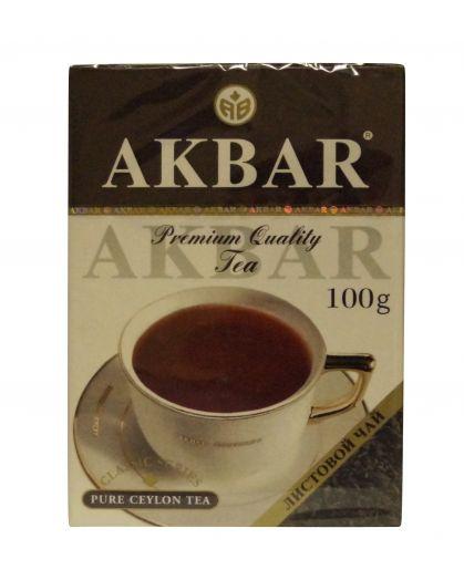 Чай Акбар Черный байховый Цейлонский (крупный лист) 100г