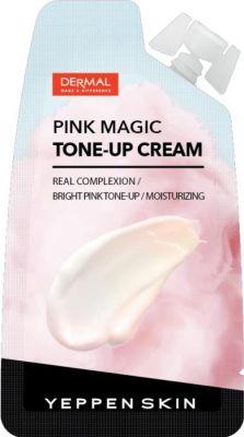 Dermal Yeppen Skin Tone-up cream Pink Magic Увлажняющая крем-основа для выравнивания тона и сияния кожи лица Тон Прозрачный розовый 15 гр