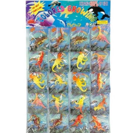 Фигурки, Растущие В Воде, Динозавры, Количество 20 Шт