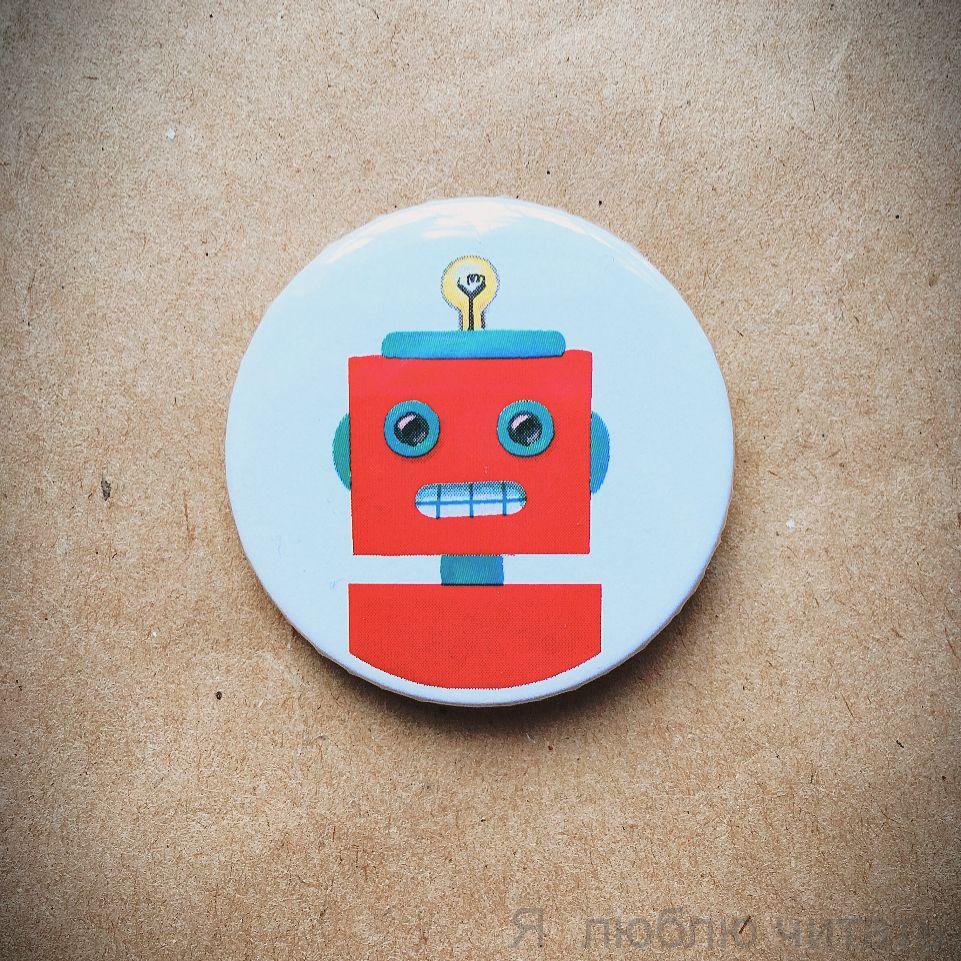 """Значок """"Красный робот"""""""
