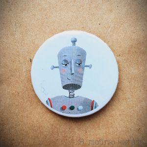 """Значок """"Задумчивый робот"""""""