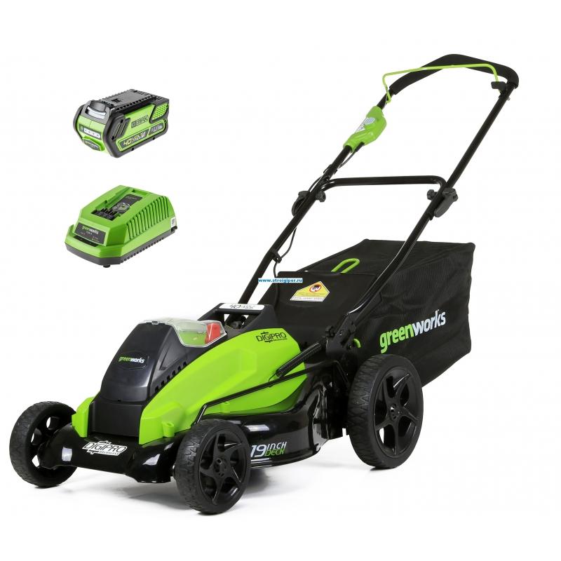Газонокосилка аккумуляторная Greenworks 2500407ub GD40LM45