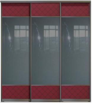 Трехдверные двери купе - Зеркало+Стекло Командор, комбинированные