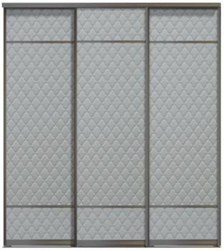 Трехдверные двери купе - Кожа+Кожа+Кожа, комбинированные