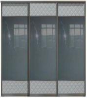 Трехдверные двери купе - Кожа+Зеркало+Кожа