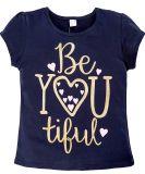 Темно-Синяя футболка для девочек с принтом от Bonito kids