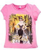 Розовая футболка для девочек с принтом от Bonito kids