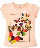 Бежевая футболка для девочек с принтом от Bonito kids