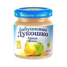 Пюре Бабушкино Лукошко груша/яблоко 100г