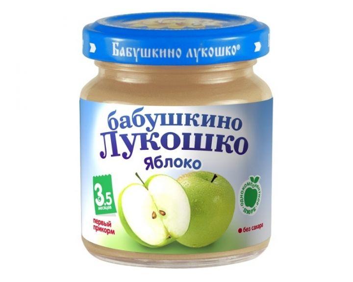 Пюре Бабушкино Лукошко яблоко б/с 100г
