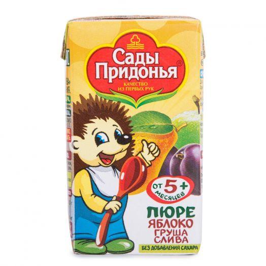Пюре Сады придонья 125мл яблоко/груша/слива