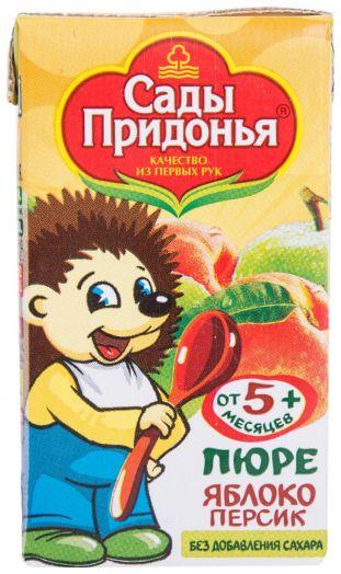 Пюре Сады придонья 125мл яблоко/персик