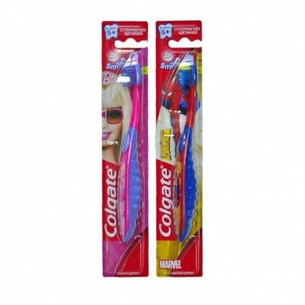 Зуб. щетка Colgate Smiles Barbie, Spiderman детская 5+