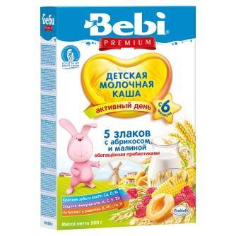 Каша Беби Премиум 5 зл абрикос малина с пребиотиком 200 гр  6 мес