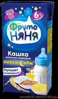 Каша Фрутоняня жидкая молочная молочно-злаковая (гречка/кукуруза/рис) 200мл.