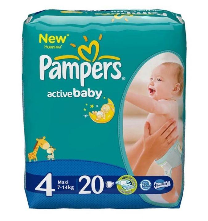 Подгузники Памперс Active Baby Maxi 20шт.