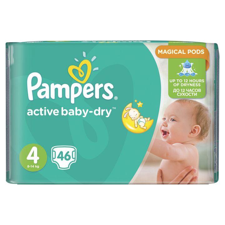 Подгузники Памперс Active Baby-Dry Maxi 8-14 кг 46шт