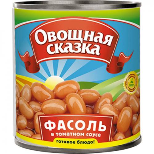 Фасоль Овощная Сказка в т/с, ж/б, 310г