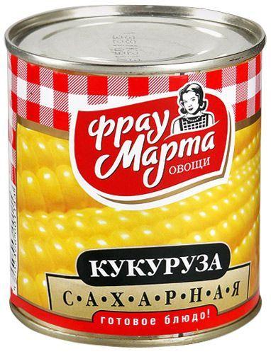 Кукуруза Фрау Марта ж/б, 310г Рудня