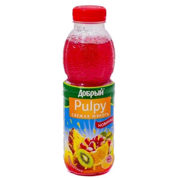 Напиток сок. Палпи Тропик 0,45л пэт