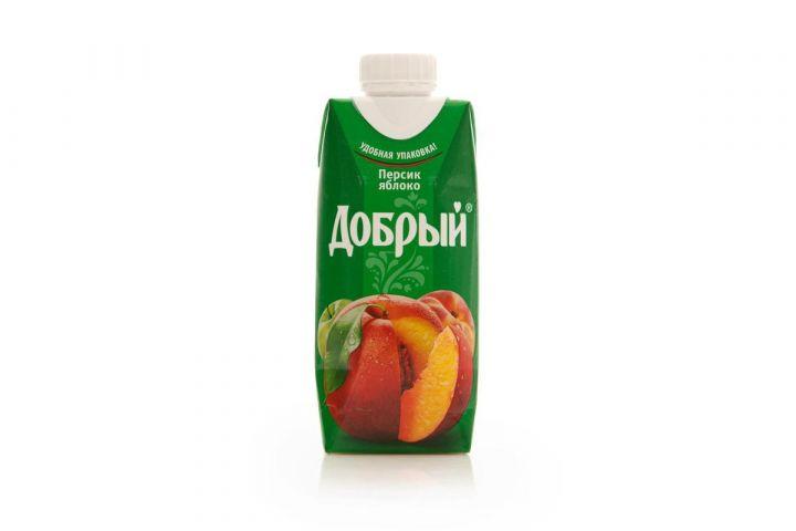 Нектар Добрый 0,33л Персик/Яблоко