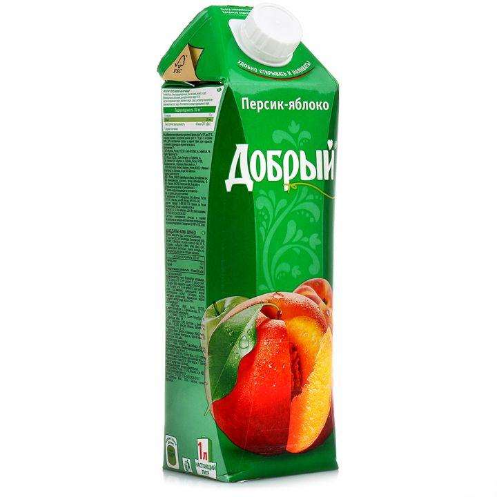 Нектар Добрый 1л Персик/Яблоко