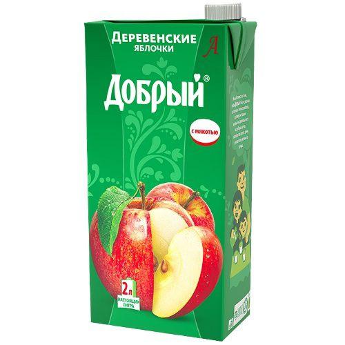 Нектар Добрый 2л Деревенское яблоко