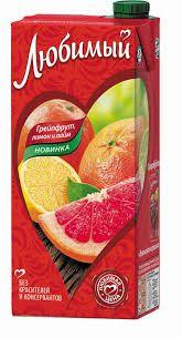 Нектар Любимый 0,95л Грейпфрут/Лимон/Лайм