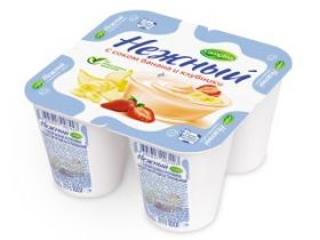 Йогурт Кампина Нежный 1,2% банан/клубника 100г ООО Кампина