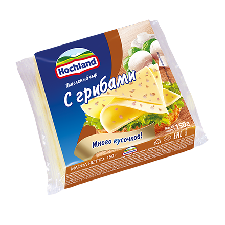 Сыр Хохланд 150г 48% Грибы нарезка