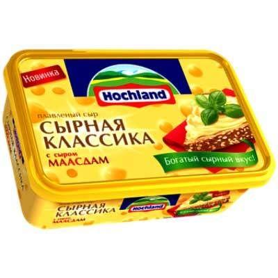 Сыр Хохланд 50% 200г Маасдам ванночка