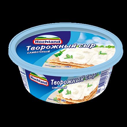 Сыр Хохланд 60% 140г творожный сливочный ванночка