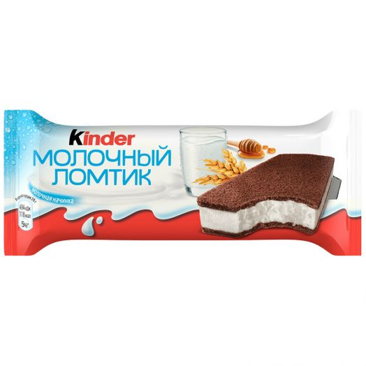 Пирожное Киндер 27,3% молочный ломтик бисквит 28г Ферреро