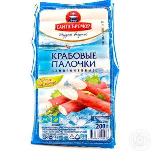 Мясо крабовое Эконом маркет 200г в/у Санта Бремор