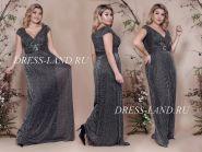 Черное вечернее платье с украшением