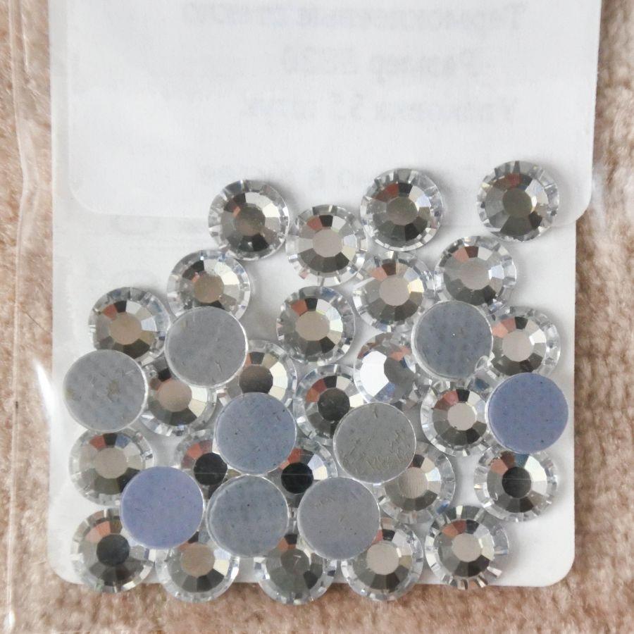 Стразы стеклянные клеевые, цвет Прозрачный, SS20, 35 шт/упак