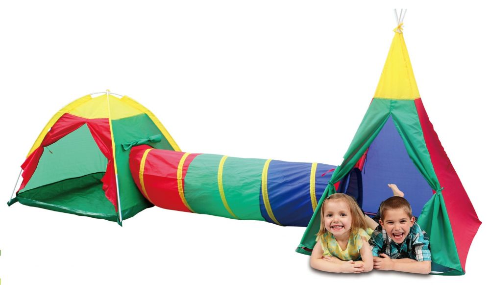 Детская игровая палатка с туннелем 3в1 NA-8703